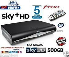 SKY + HD SATELLITE RECEIVER BOX 500GB AMSTRAD DRX890 3D READY