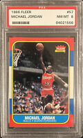 1986 Fleer Basketball Michael Jordan ROOKIE RC #57 PSA 8 NM-MT GOAT!