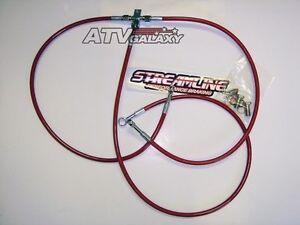 Pink Hose /& Stainless Red Banjos Pro Braking PBF4498-PNK-RED Front Braided Brake Line