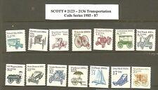 US Scott # 2123 -2136 1985-87 Transportation Coils MNH