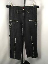 Tripp NYC Womens 11 EMO Chain Spike Convertible Pants RAVER Wide Leg Goth Punk