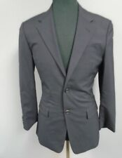 PRADA Navy Blue Wool Solid Lined Two Button Blazer Jacket Size 46R  HH3702