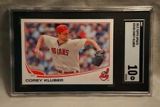 Corey Kluber Rookie 2013 Topps Update Card # US105 RC SGC 10 Comp to PSA & BGS