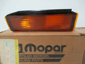 Mopar NOS 1985-89 Lancer, LeBaron GTS, Right Hand Front Turn Signal ASSY 4321716