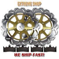 Suzuki Front Stainless Steel Brake Rotor + Pads GSX 1300 R Hayabusa (1999-2007)
