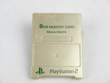 Official PlayStation 2 PS2 Memory Card Gold Japanese 8MB