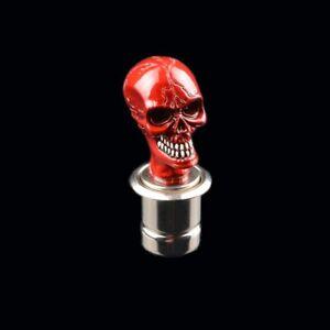 Universal 12V Car Cigarette Lighter Red Skull & Crossbones Design RED