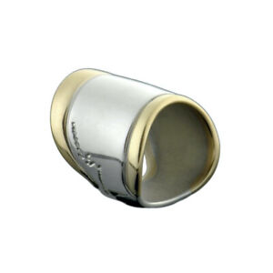 Georg Jensen. Silver Ring  with 18k Gold #243 - Left Pinky.