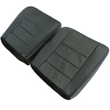 03 07 Ford Excursion Standard  Dr. Pass. Bottom perfo.Leather Seat cover BLACK