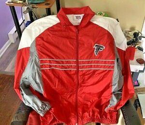 Vintage 80's Atlanta Falcon Sports Illustrated Windbreaker Jacket NFL Large BIN