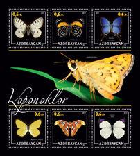 Azerbaijan Butterflies Stamps 2017 MNH Hairstreak Butterfly Atlas Moth 6v M/S