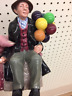 Royal Doulton Balloon Man Figurine Vintage HN 1954