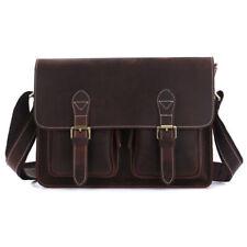 Vintage Men Leather Shoulder Bag Satchel Work Business Messenger Bag Briefcases