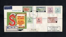 TOKELAU ISLANDS -  1967  FIRST OUTGOINGO MAIL WITH DECIMAL CURRENCY  STAMPS (z)