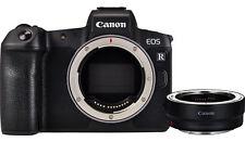 Canon EOS R 30.3MP Digital Camera - Schwarz (Kit mit Bajonettadapter EF-EOS R)