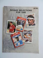 Major League Baseball Rookie Selections For 1990 Magazine Pamphlet History