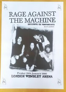 Vintage Poster Rage Against the Machine UK tour Rare RATM