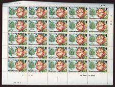 MONTSERRAT 1976 FLOWERING TREES 1c + 2c MINT SHEETS 100 stamps