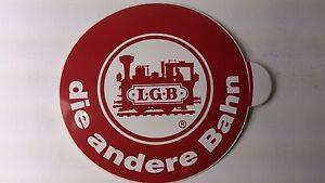 * Original LGB 8.5 cm Diameter Window Sticker 06 - die andere Bahn