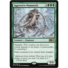 AGGRESSIVE MAMMOTH NM mtg Core 2019 M19 Green - Elephant Rare