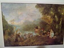 Gemäldepostkarte: A. Watteau / Einschiffung nach Kythera