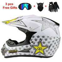 Motorcycle Helmet Motocross With 3Pcs Gift Off-Road Extreme Sports ATV Dirt Bike