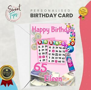 PERSONALISED A5 BIRTHDAY CARD BINGO | ANY NAME | AGE
