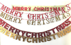 MERRY CHRISTMAS WALL HANGING DECORATION BANNER,GARLAND,BUNTING XMAS HOME PARTY