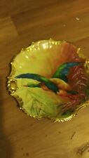 Limoges Coronet Hand Painted Bird Signed Bourssillon plate 9.75 diameter gorgeou