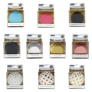 PME Cupcake Cases Foil Lined Metallic Baking Cases 30 Pack