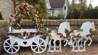 Y219 PRINCESS WEDDING CARRIAGE BIRTHDAY CAKE Cupcake Candy Cart Sweet Cart A