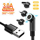 3 in 1 540° Rotate 3.0A Fast Charger Magnetic Cable for Type-C Micro USB Phone