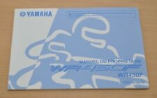 YAMAHA WR450F WR 450 F Manual du Proprietaire Bedienungsanleitung Motorrad 2011