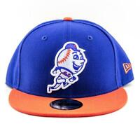 New York Mets New Era Cap MLB 9Fifty Flat Brim Hat In Blue-Orange