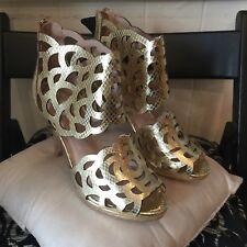 New Sargossa Gold Shoes Size 4 37