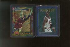 Lot of (2) 1994 & 1996 Topps Finest Michael Jordan Bulls HOF
