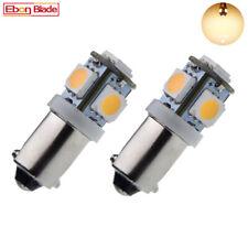 2 X 6V BAY9S H21W Car LED Lights Warm White Interior Side Wedge Parker Bulb Lamp