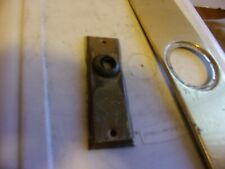 """Brass Door Plates One Is 10.5 By 3"""" Other Is 4.5 By 1.5 """" Vintage"""