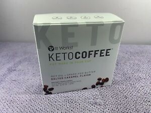 It Works! KETO COFFEE Salted Caramel Flavor 12 Single Serve Pods New