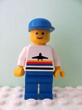 LEGO Minifig air005 @@ Airport - Classic, Blue Legs, Blue Cap - 6375 6396 6399