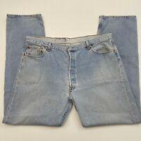 Levi's 501 Vintage Y2K Light Wash Straight Leg Jean Size W42 L34
