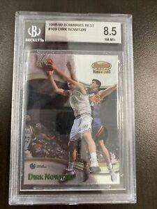 BGS 8.5 Dirk Nowitzki 1998 Bowman's Best Chrome Rookie Card #109