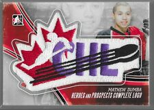 12/13 ITG Heroes & Prospects Complete Logo Patch Mathew Dumba 1/1 CHL-19 Wild