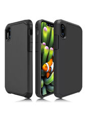 Rugged Case For iPhone X / XS - Retro Fabric Case  Black