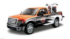 Maisto Modellauto Ford F-150 STX Pick-up 1:27 + Harley FLH Duo Glide 1:24 - NEU