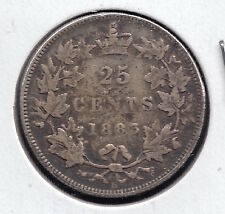1883  quarter Dollar / Twenty Five Cents - Silver Canadian Coin