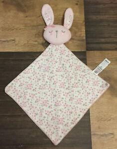 George Asda Pink Floral Flower Print Bunny Rabbit Comforter Blankie Blanket