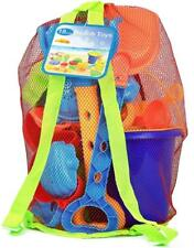 Click N Play 18 Piece Beach sand Toy Set, Bucket, Shovels, Rakes, Sand Wheel