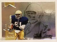 2014 Fleer Fair Showcase Gold #195 Tim Brown Football Card Notre Dame