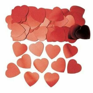 2 x 14g Heart Shape Jumbo Red Table confetti - fab gold stardust at a great